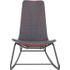 Pya schommelstoel, roestrood en blauw