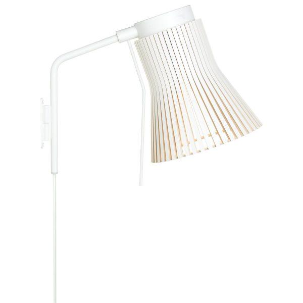 Petite 4630 wandlamp white laminated
