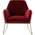 Frame fauteuil, bordeauxrood fluweel
