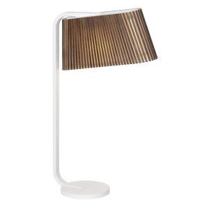 Owalo 7020 tafellamp walnut veneer