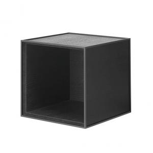 Frame 28 kubus zonder deur zwart gebeitst essen