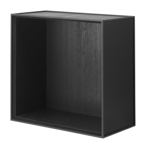 Frame 42 kubus zonder deur zwart gebeitst essen