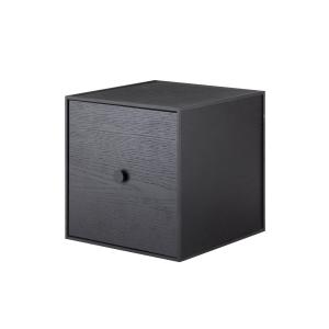 Frame 28 kubus met deur zwart gebeitst essen