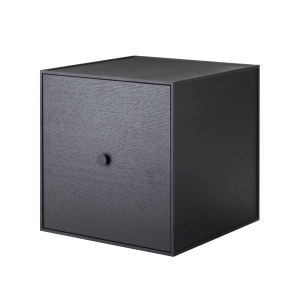 Frame 35 kubus met deur zwart gebeitst essen