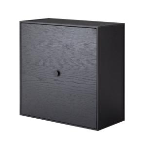 Frame 42 kubus met deur zwart gebeitst essen