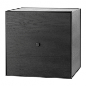 Frame 49 kubus met deur zwart gebeitst essen