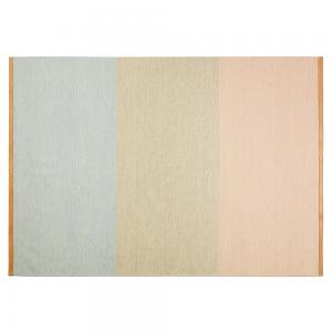 Fields vloerkleed 170 x 240 cm. blauw-beige-roze-beige