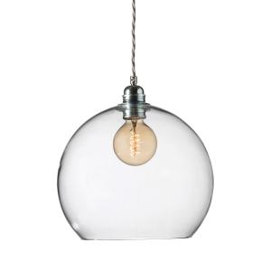 Rowan hanglamp groot, Ø 28 cm. helder-zilveren snoer