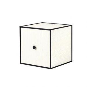 Frame 28 kubus met deur wit essen