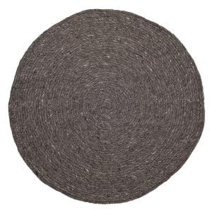 Bloomingville gevlochten vollen kleed grijs Ø 140 cm.