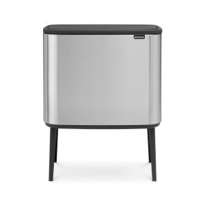 Bo touch bin 11 + 23 liter matte stainless steel (mat roestvrij staal)
