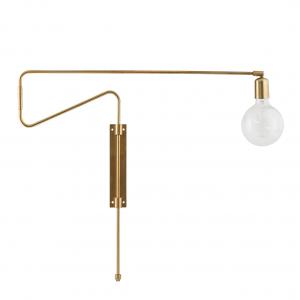 Swing wandlamp messing groot - 70 cm.