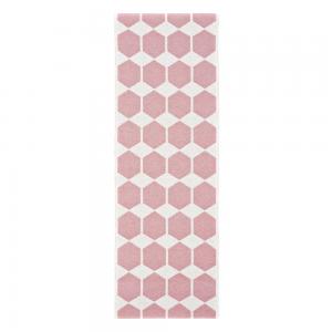 Anna vloerkleed roze 70 x 260 cm.