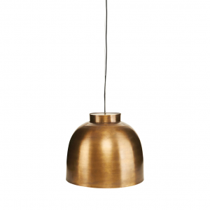 Bowl hanglamp messing middel - 35 cm.