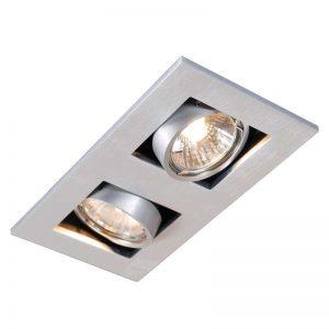 Inbouwspot Qure 2 GU10 aluminium