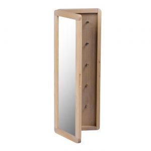Nordiq Metro Key Cabinet - Houten sleutelkastjeeiken whitewash sleutelkastje met spiegel