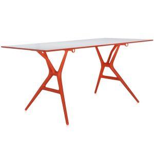 Kartell Spoon tafel oranje 160 cm