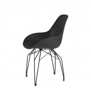 Kubikoff Diamond stoel - Dimple closed - Zwart onderstel - Goedkope eetkamerstoel - Design