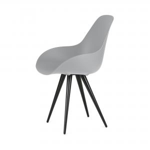 Kubikoff Angel stoel - Dimple closed - Zwart onderstel - Design eetkamerstoel kuip