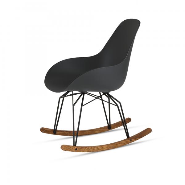 Kubikoff Diamond Rocking schommelstoel - Dimple closed - Zwart onderstel - Kubikoff Diamond schommelstoel - Dimple Closed - Design kuipstoel