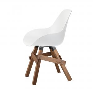 Kubikoff Icon stoel - Dimple closed - Walnoten onderstel - Kuipstoel - Design