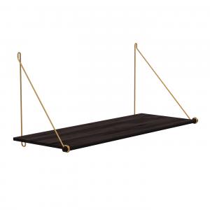 We Do Wood Loop Shelf Dark - Bamboe plankensysteem - Brass