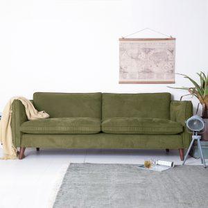 SEVN Bank 'Lucas' 4-zits, kleur groen