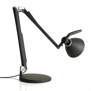 Luceplan Fortebraccio bureaulamp met dimmer zwart