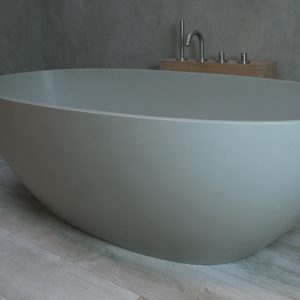 Luca Vasca vrijstaand bad 180x80cm ovaal Solid Surface Camoscio