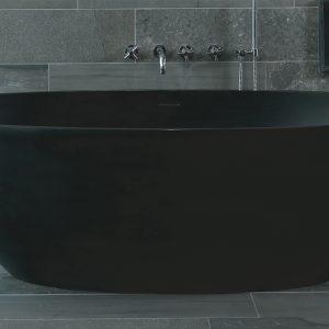 Luca Vasca vrijstaand bad 180x93cm ovaal Antraciet mat