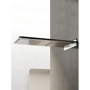 Hotbath Mate M139 hoofddouche cascade 27x59 cm geborsteld nikkel