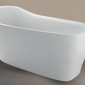 Xenz Mattia vrijstaand bad 182 x 86 cm wit Solid Surface