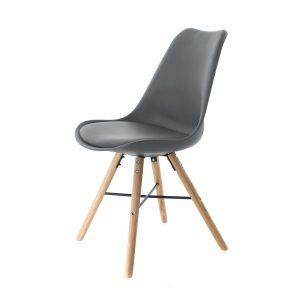 Essence Medina stoel - Houten onderstel - kuipstoel - retro ? Scandinavisch ? vintage - als Velli