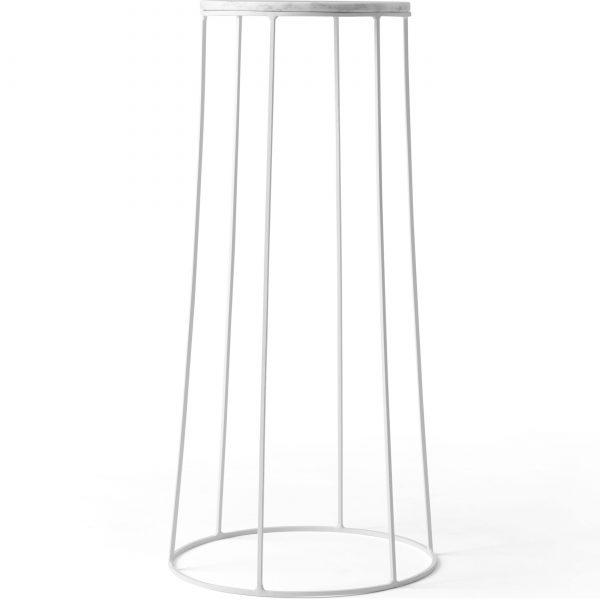 Menu Wire Marble 606 bijzettafel wit