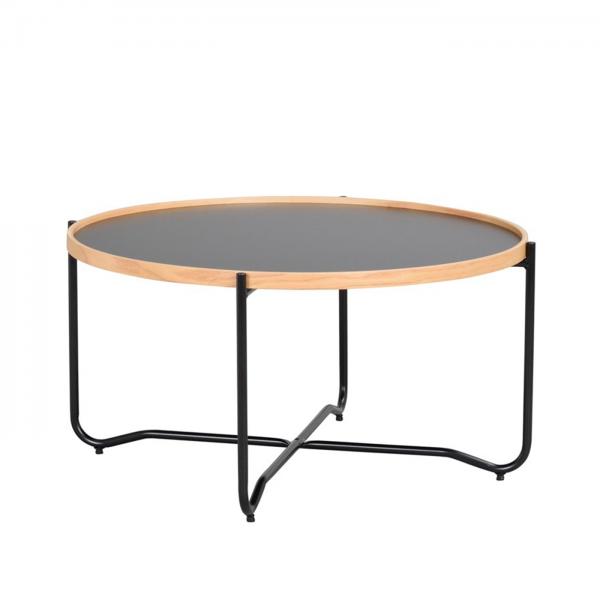 Nordiq Bristol coffee table - Ronde salontafel - 82 cm - Scandinvavisch design - Afneembaar tafelblad