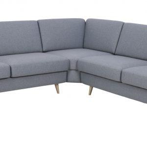 Hoekbank 'Vidar' kleur grijs-blauw