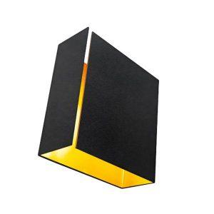 Modular Split wandlamp LED medium zwart goudkleurige binnenkant