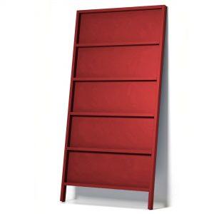 Moooi Oblique boekenkast small rood
