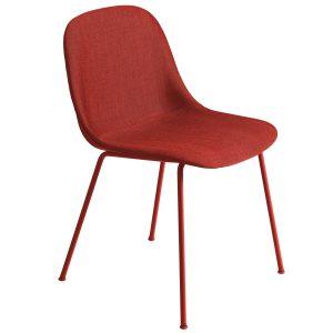 Muuto Fiber Side Tube gestoffeerde stoel remix 643 / rood