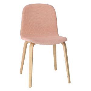 Muuto Visu Wood gestoffeerde stoel roze