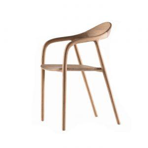 Artisan Neva chair - eetkamerstoel met armleuning - Hout -