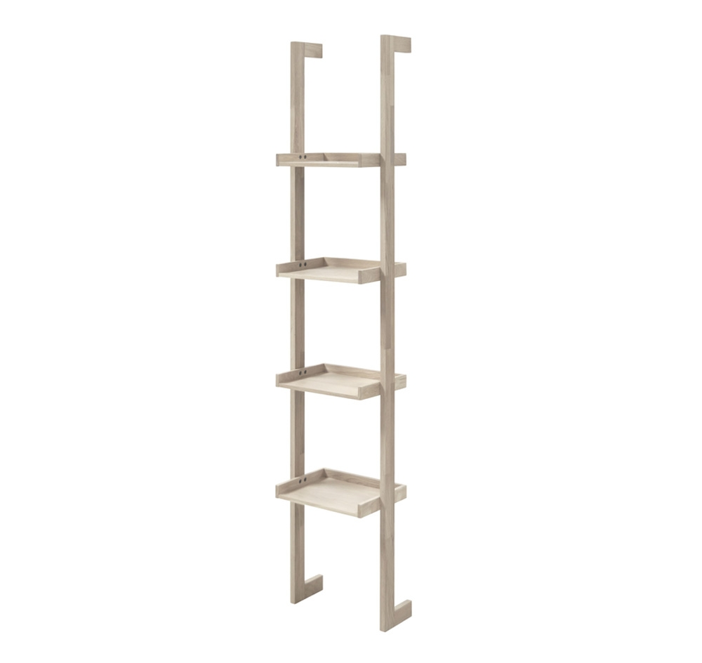 artichok boekenkast ladder sem mounted smal houten trap decoratie ladder
