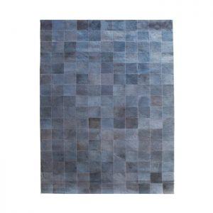 By-Boo vloerkleed 'Patchwork Leather' 160 x 230cm, kleur grijs