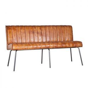 Eleonora Eetkamerbank 'Marvin' 160cm, kleur cognac leder