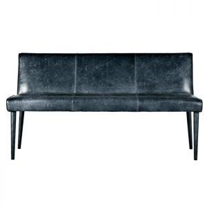 Eleonora Eetkamerbank 'Sascha' 160cm, kleur zwart leder