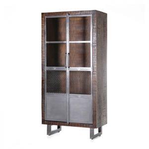 Eleonora Vitrinekast 'Brooklyn' met 2 deuren, 175 x 85cm