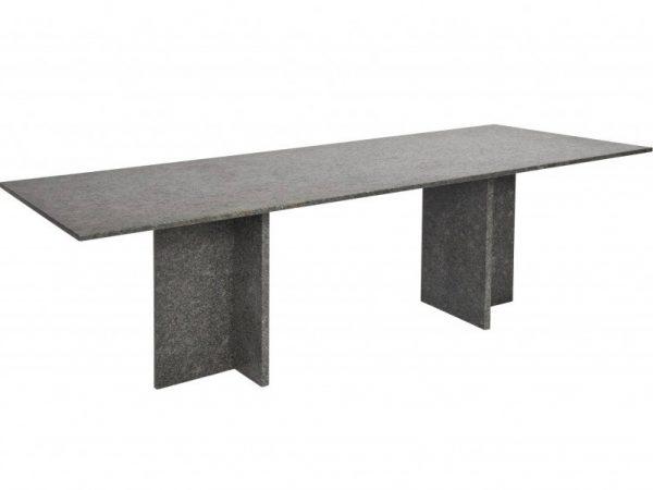 Tonsberg dining tuintafel 240x100xH75 cm 2 cm graniet pearl black satinado