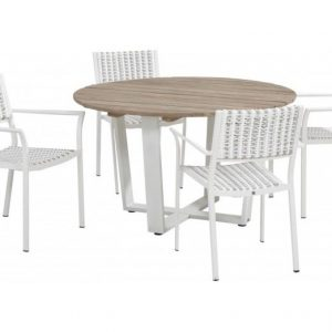 Piazza diningset white latte 4 Seasons Outdoor