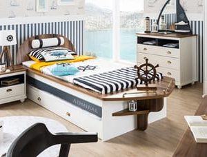 Bootbed Admiral - 90 x 200 cm - Wit