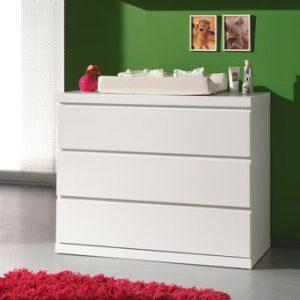 Commode Lisanne - 110 x 90,5 x 57 cm - Wit